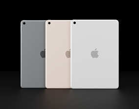 Apple iPad 7th Generation In All Official Colors 3D model
