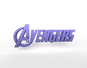 Avengers Logo v1 003 3D asset