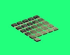 Letter Tiles 3D printable model