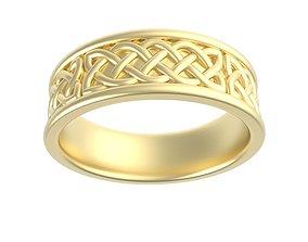 3D printable model Celtic Knot Gents Band