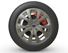3D model subaru wheel 2