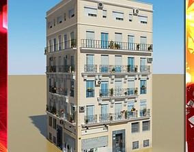 3D model european Photorealistic Low Poly Building