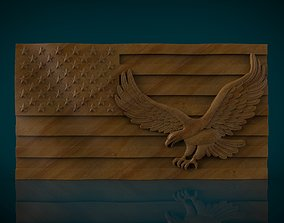 3D printable model American Flag and Eagle
