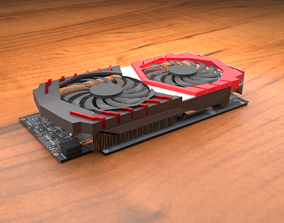 MSI gaming style graphics card 3D-model