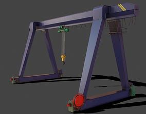 3D model PBR Single Girder Gantry Crane V1 - BLUE DARK