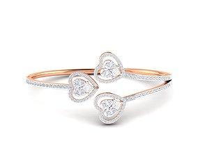 Women bracelet 3dm stl render detail jewellery