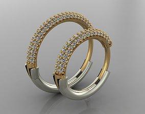 GC GOLD E066- Diamond Cartilage Earring 3D print model