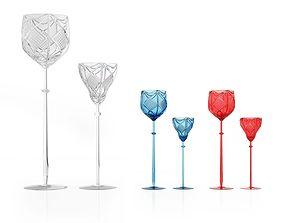 Crystal Glasses 3D model