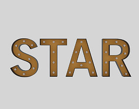 3D model Star Sign With Bulb