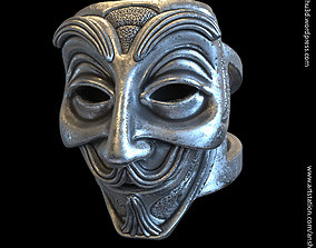 Face mask vol1 ring jewelry 3D printable model