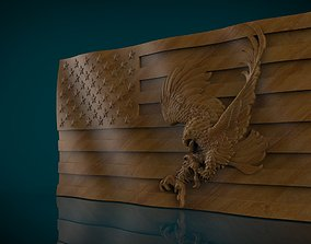 3D print model American Flag and Eagle america