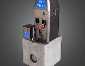 3D model Air Pump Outdoor - SAM - PBR Game Ready
