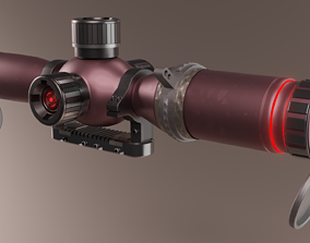Scope for weapon 3D model