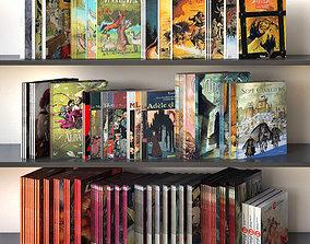 Book Set 02 Comics 3D model