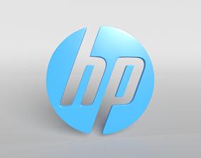HP Logo Version1 001 3D model