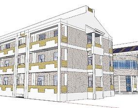 Office-Teaching Building-Canteen 82 3D