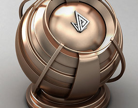 3D model VRAY SHADER---METAL---Polarized Copper