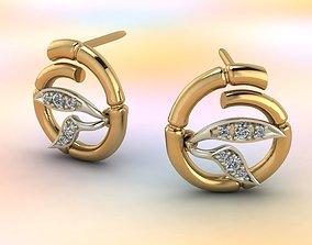 3D print model Bamboo earrings