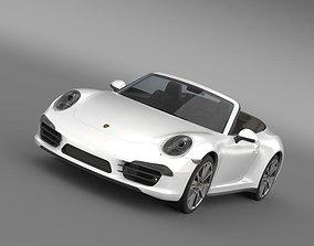 3D model Porsche 911 Carerra s Cabrio 2013