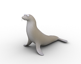 3D asset Cartoon Seal - Rigged