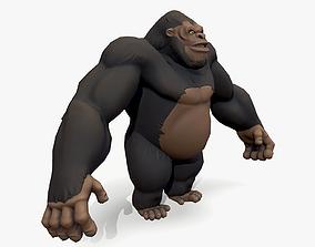 3D asset Stylized Gorilla