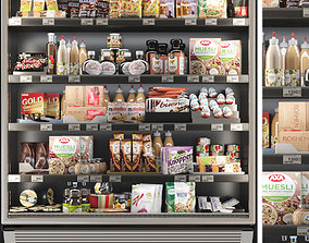 3D model Showcase in a grocery store