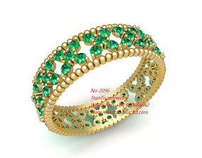 3D print model 2096 Diamond Women Ring