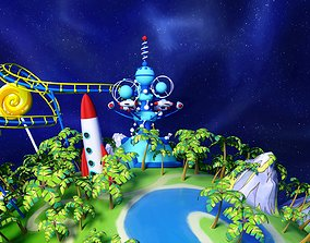 Amusement park Entertainment carousels A small 3D asset