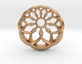 Growing Wheel Pendant 3D print model