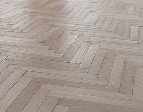 Oak herringbone parquet 3D model