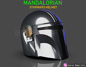 MANDALORIAN HELMET - STAR WARS movie 2019 3D print model