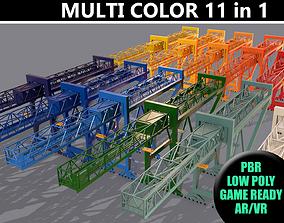 PBR Port Container Crane - Multi color Pack 3D model