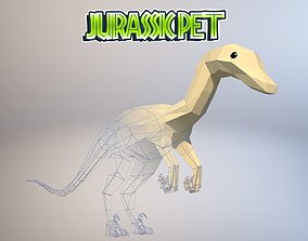 3D asset animated Troodon