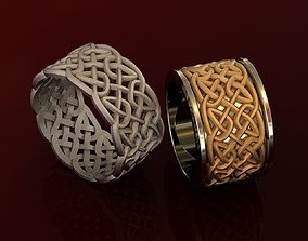 Celtic Wedding Rings with Knot 3D printable model
