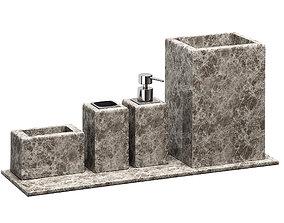 ZARA HOME MARBLE BATHROOM ACCESSORIES 3D