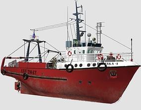 Fishing Trawler 3D model PBR