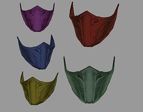 3D print model Jade Skarlet Kitana Mileena mask for face 3