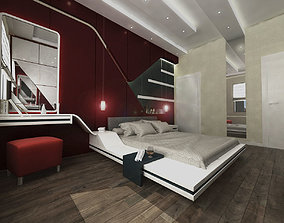 Red Bedroom 3D