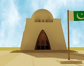 3D model Mazar e Quaid e Azam Mohammad Ali Jinah