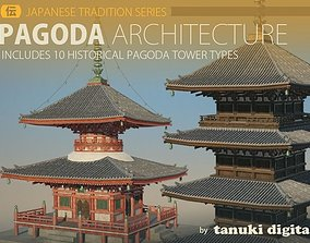 Pagoda Architecture 3D asset