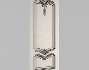 corbel 3D printable model Carved door