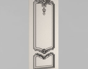 corbel 3D printable model Carved door