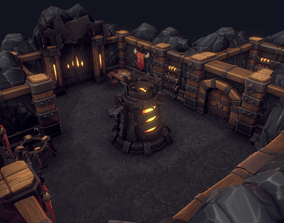 3D model Orc Stronghold Dungeon - Hand Painted