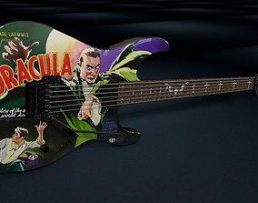3D Kirk Hammett ESP KH-2 Dracula