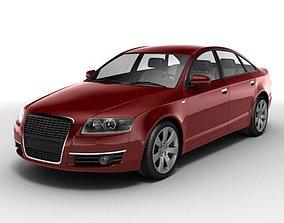 Red Audi A6 3D