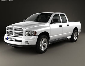 Dodge Ram 1500 Quad Cab SLT 2002 3D model