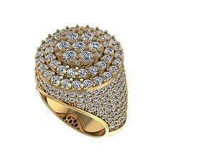 Flower Men ring flower Ring Size 9 3D