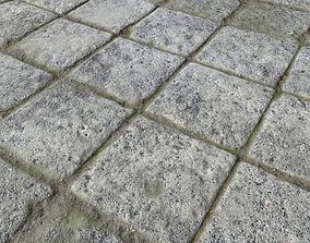 Old stone floor plates seamless PBR 3 3D model