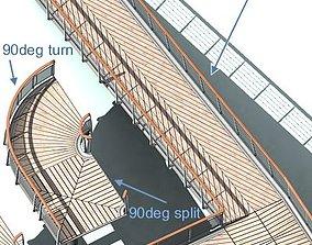 3D asset Pedestrian bridge elements