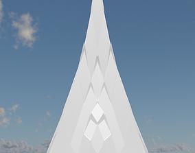 3D model VR / AR ready Silver Peak Structure